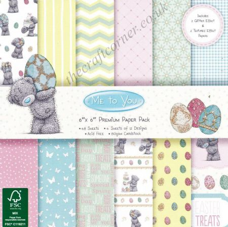 "Me To You Easter & Other Patterns 6"" x 6"" Designer Paper Pack by Trimcraft"